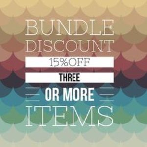 15% off 3 or More Items!!